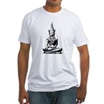 Buddha (Black) Fitted T-Shirt