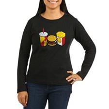 Fast Food Women's Long Sleeve Dark T-Shirt