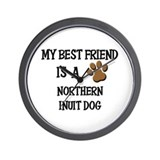 My best friend is a NORTHERN INUIT DOG Wall Clock