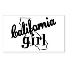 California Girl Rectangle Sticker 50 pk)