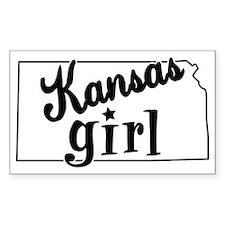 Kansas Girl Rectangle Sticker 50 pk)