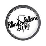 Rhode Island Girl Wall Clock