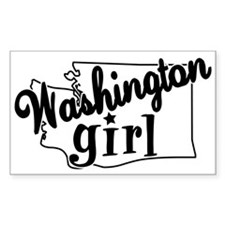Washington Girl Rectangle Decal