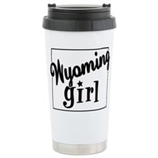 Wyoming Girl Ceramic Travel Mug