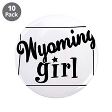 """Wyoming Girl 3.5"""" Button (10 pack)"""