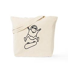 Skater D (Black) Tote Bag
