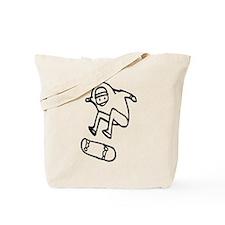 Skater Z (Black) Tote Bag