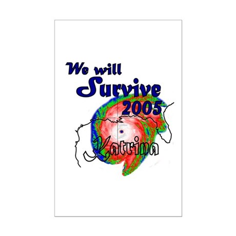 We Will Survive 2005 Hurrican Mini Poster Print