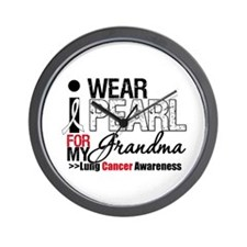Lung Cancer (Grandma) Wall Clock