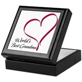 World's Best Grandma Heart Keepsake Box