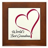 World's Best Grandma Heart Framed Tile