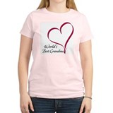 World's Best Grandma Heart Women's Pink T-Shirt