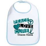 PEACE LOVE CURE Ovarian Cancer (L1) Bib