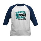 PEACE LOVE CURE Ovarian Cancer (L1) Tee