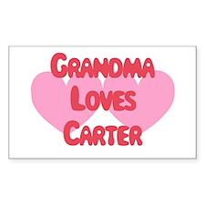 Grandma Loves Carter Rectangle Decal