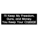 Keep Your Change Bumper Car Sticker