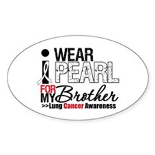 Lung Cancer (Brother) Oval Sticker (10 pk)