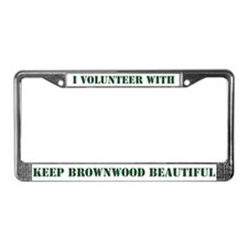 """I Volunteer"" License Plate Frame"
