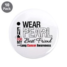 "Lung Cancer (Best Friend) 3.5"" Button (10 pack)"
