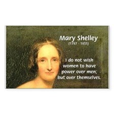 Novelist Mary Shelley Rectangle Decal