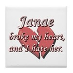 Janae broke my heart and I hate her Tile Coaster