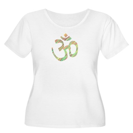 Om symbol Women's Plus Size Scoop Neck T-Shirt