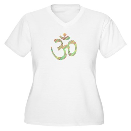 Om symbol Women's Plus Size V-Neck T-Shirt