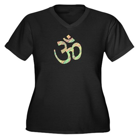 Om symbol Women's Plus Size V-Neck Dark T-Shirt