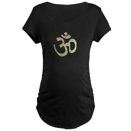 Om symbol Maternity Dark T-Shirt