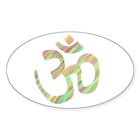 Om symbol Oval Sticker