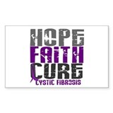 HOPE FAITH CURE Cystic Fibrosis Bumper Stickers