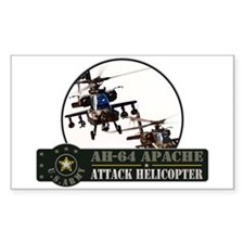 AH-64 Apache Helicopter Rectangle Decal