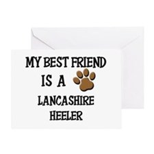 My best friend is a LANCASHIRE HEELER Greeting Car