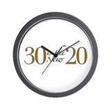 30 is the new 20 Wall Clock