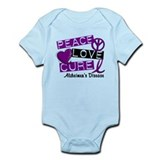 PEACE LOVE CURE Alzheimer's Disease Onesie