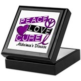 PEACE LOVE CURE Alzheimer's Disease Keepsake Box
