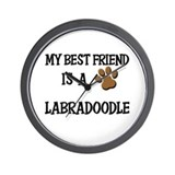 My best friend is a LABRADOODLE Wall Clock