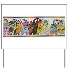 Uptown Cats 4 Yard Sign