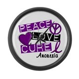 PEACE LOVE CURE Anorexia (L1) Large Wall Clock