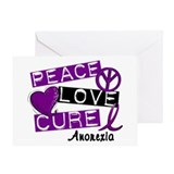 PEACE LOVE CURE Anorexia (L1) Greeting Card