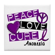 PEACE LOVE CURE Anorexia (L1) Tile Coaster