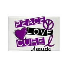 PEACE LOVE CURE Anorexia (L1) Rectangle Magnet (10
