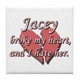 Jacey broke my heart and I hate her Tile Coaster