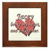 Jacey broke my heart and I hate her Framed Tile