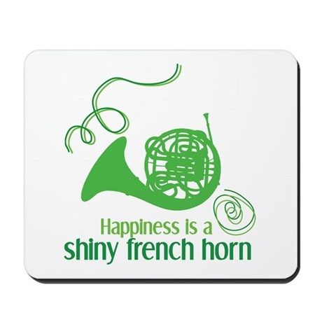 Shiny French Horn Mousepad