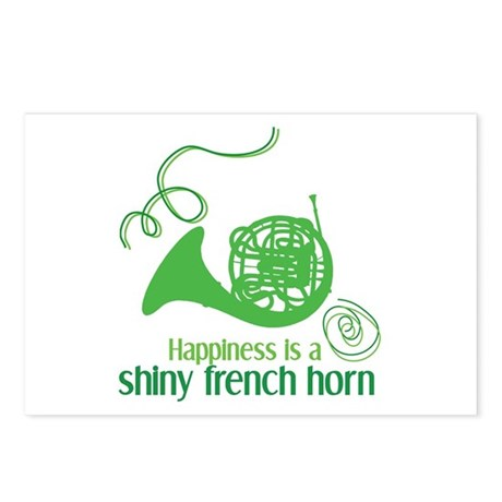 Shiny French Horn Postcards (Package of 8)