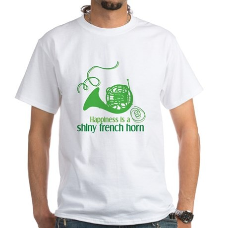 Shiny French Horn White T-Shirt