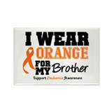 IWearOrange Brother Rectangle Magnet