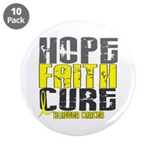"HOPE FAITH CURE Bladder Cancer 3.5"" Button (10 pac"
