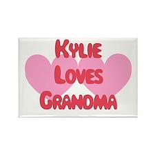 Kylie Loves Grandma Rectangle Magnet